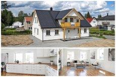 HØLEN - Nyoppført, flott enebolig med 4 soverom, 2 stuer, 2 bad, vaskerom. Supre solforhold. Barnevennlig beliggenhet.