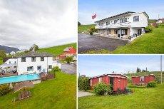 Vangsnes-Enebolig/Motell - Innholdsrik eiendom: Motell m/10 rom, bolighus,2 hytter