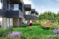 Hjellemarka B10 - 5 rekkehus i kjede over 2 plan med 4 soverom. Gode uteplasser og solforhold