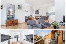 Tønsberg sentrum - Moderne 3-roms toppleilighet m/vestvendt takterrasse, balkong, utsikt og heisadkomst fra garasje!