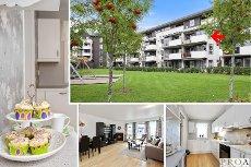 Jessheim sentrum - Meget pen 3-roms selveier leilighet i 3 etg. med gasspeis og garasje. Flott utsikt - sentrumsnært!