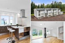 Holmestrand/Fosskollen - 4 splitter nye boliger i rekke - 3 sov - 2 bad
