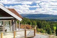 SKUTUSET/GOLSFJELLET - Nyere hytte med fantastisk utsikt og gode solforhold. 3 sovermo, hems, bad, vaskerom, etc