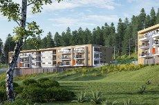 Hjellemarka B6 - Kun 4 ledige! Innflytting i mars 2016. Flotte og moderne leiligheter med terrasse, heis & garasje!