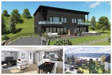 Veståsveien/Sogsti - Ny, moderne tomannsbolig. Fin fjordutsikt. Stor vestvendt markterrasse og balkong. Dobbelgarasje.
