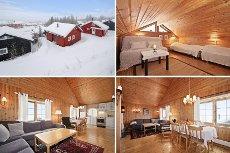 Norefjell - Fin hytte i Alpinlandsbyen med hems og badstue. Rett ved bakken og langrennsløyper- ski inn/ ski ut, eier tomt.