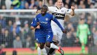 Chelsea's N'Golo Kante, left, challenges for the ball with Fulham's Stefan Johansen during the English Premier League soccer match between Chelsea and Fulham at Stamford Bridge stadium in London, Sunday, Dec. 2, 2018. (AP Photo/Kirsty Wigglesworth)