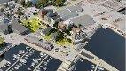 HAVNEPARKEN: En ny grønn park mellom gammel og ny bebyggelse, tre kombinasjonsbygg mot nord og en ny store gjestehavn med molo og sjøbasseng ligger i utkastet som nå er vinner.