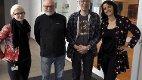 Gleder seg: Fra venstre: Hege Granøe Johansen, Sande kulturkontor, Stein Vadet og Bjørn Langfjæran fra Holmestrand fotoklubb og Lise Ruhe, bildekunstner. Alle Foto: Svein-Ivar Pedersen