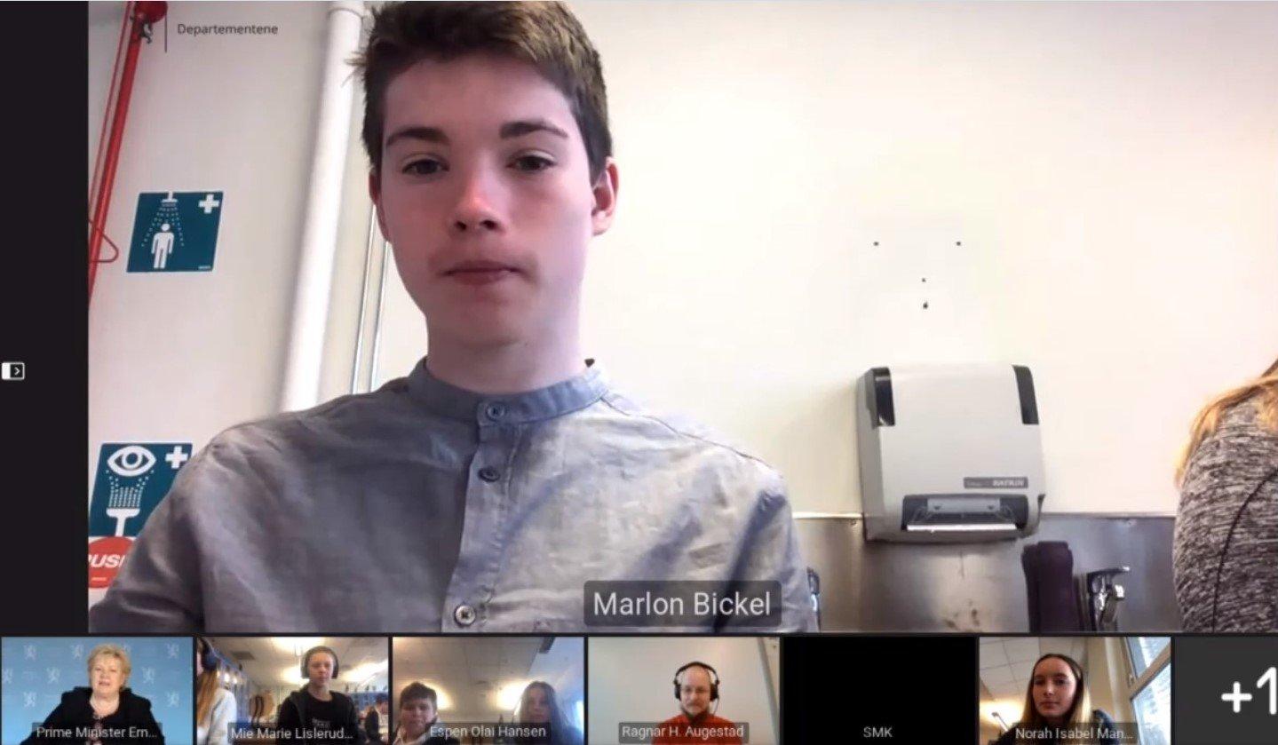 (+) Her stiller Marlon (13) statsministeren «til veggs»: – Det var én ting vi så for seint