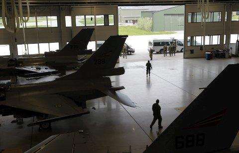 Hangar A: Her har mange F-16 vært innom gjennom mange år.