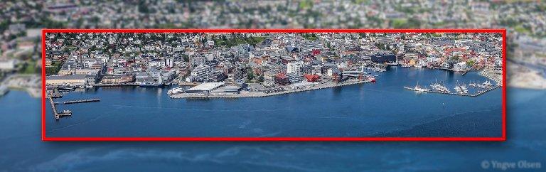 Indre havn i Tromsø mellom nord- og sørsjeteen. Der er her galleriet ligger og duver. Bli med inn i «Galleri Kaikanten».