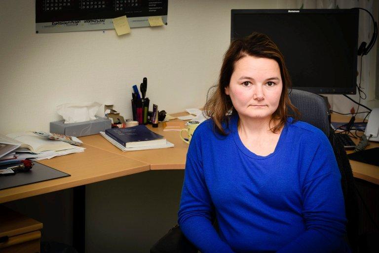 Behandler: Psykologspesialist Sara Pavall har fulgt Mia gjennom flere opphold på akuttposten ved Nordlandssykehuset i Bodø.