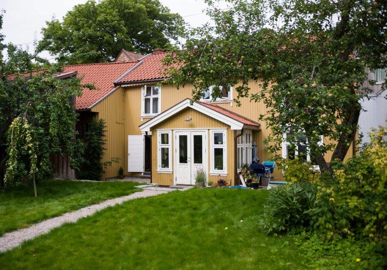 URTEHAGE:  Her dyrket apotekerne i Sindinggården noen av urtene som ble brukt til medisiner, forteller Anne Lise Gjone.