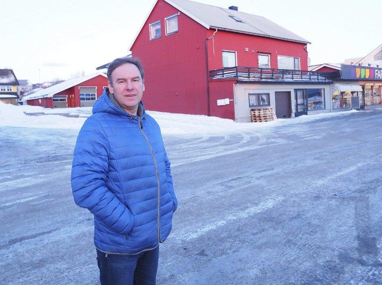 Stor tomt: Den tomta som Bjerkvik Eiendom skal utvikle har en betydelig størrelse, forteller Gunnar Skålvold. Foto: Terje Næsje
