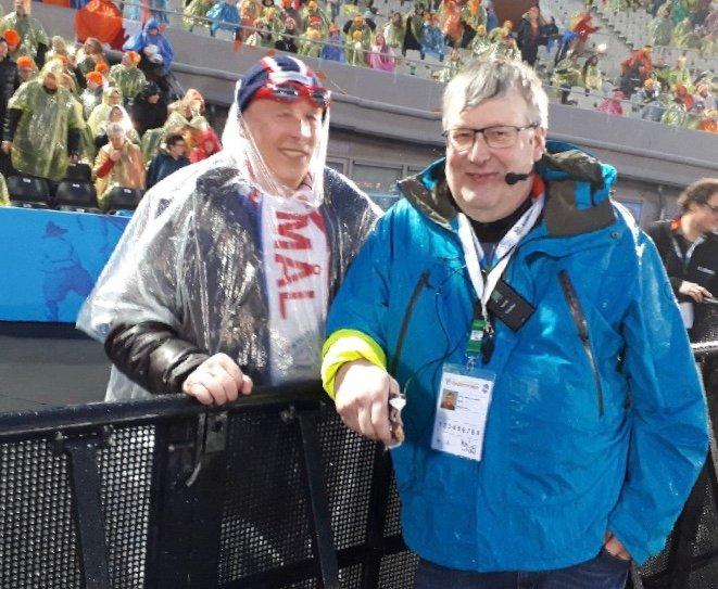 AMSTERDAM: Ivar Jonny Tvenge var på VM i Amsterdam i fjor. Her sammen med starterkollega John Magne Eliassen fra Tromsø.