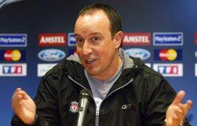 Liverpools manager, Rafael Benitez.