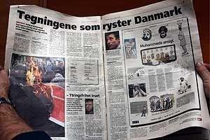 Faksimile av avisa Magazinets oppslag tirsdag om de omstridte Muhammed-tegningene.