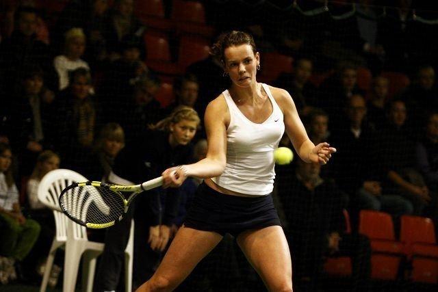 Helene Auensen spilte seg opp utover i kampen mot Caroline Wozniacki. Nå ser NTK-jenta frem til fortsettelsen på sitt tenniseventyr. ALLE FOTO: ARILD JACOBSEN