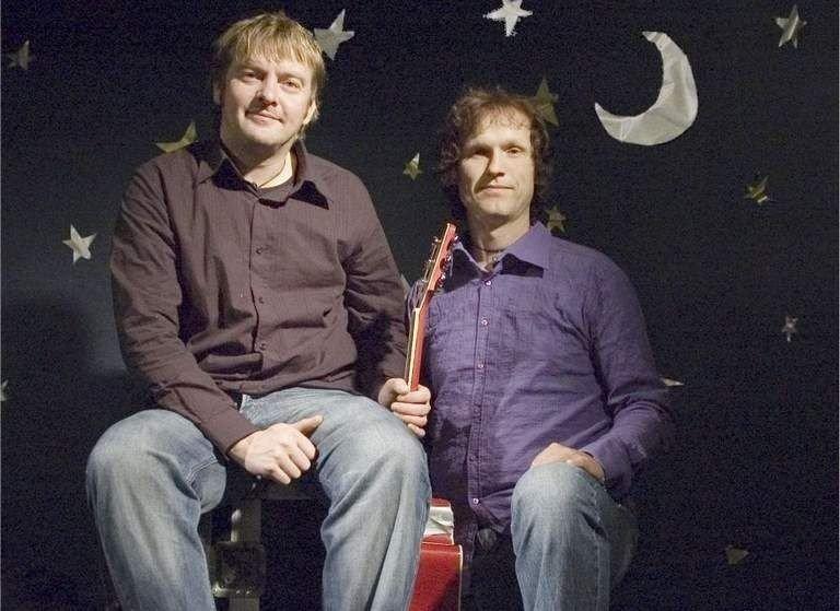 Klare for konsert: Bjørn-Peder Johansen og Trond Nilsen.