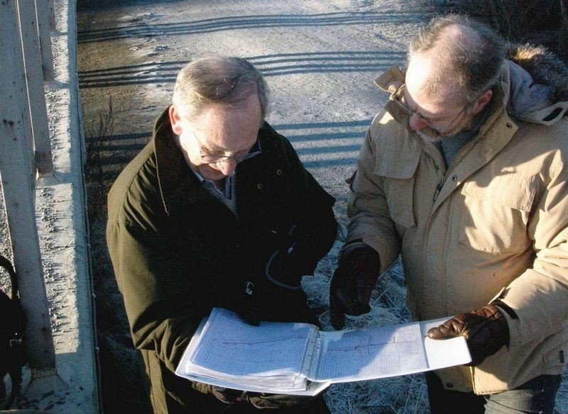 Østensjøvannets venner aksjonerer mot den planlagte fjernvarmetraseen. Foto: Trine Dahl-Johansen
