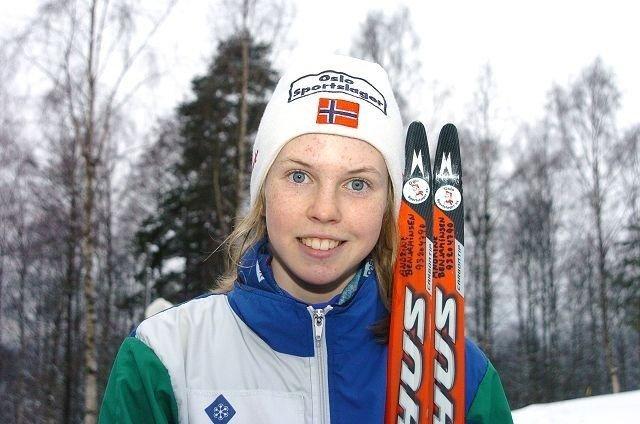 Andrine Benjaminsen kunne smile etter kretsmesterskapet.