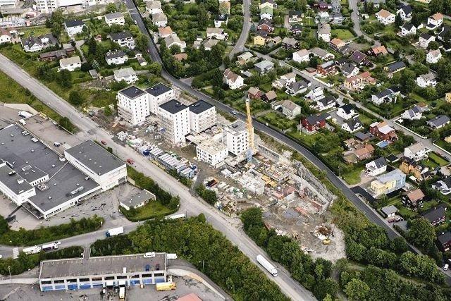 Torgveien borettslag vil få ti blokker med til sammen 176 leiligheter. I november står hele prosjektet på Økern klart.