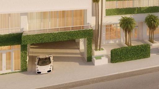 ULTIMAT LUKSUS: Kjøper du en leilighet i South of Fifth får du Lamborghini med på kjøpet.