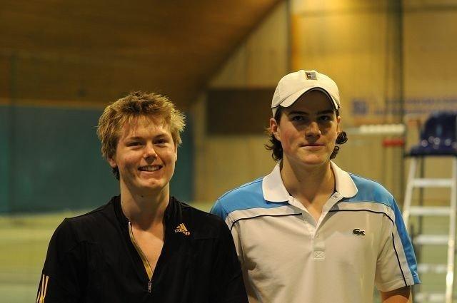Wilhelm Wiese og Karl Eirik Wangensten Øye var det beste dobbelparet på guttesiden i NM. BEGGE FOTO: PRIVAT