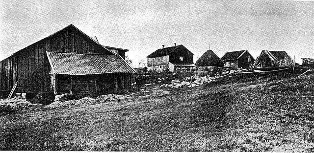 Ekeberg hovedgård på 1800-tallet. Bildet er fra boken «Den unge Johannes V. Jensen» av Oluf Friis. Utgitt i København i 1974.