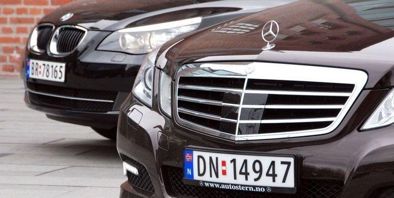KVALITET: Sammen med bladet BIL har vi vært på langtur med Mercedes' nye E220 CDI og en BMW 520d.