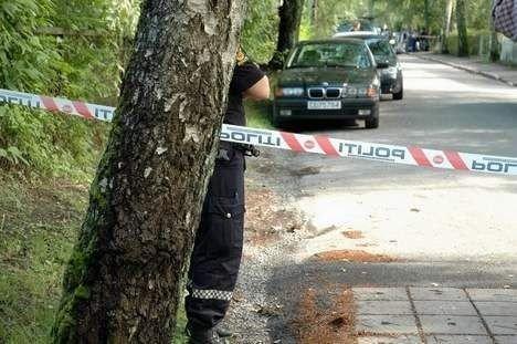 Politiet sperret av hele området etter drapet på Grefsen i august i fjor. Foto: karl Andreas Kjeldstrup