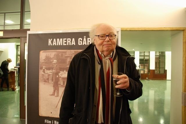 Pål Bang- Hansen åpnet filmutstillingen «Kamera går». Foto Anne Marie Huck Quaye