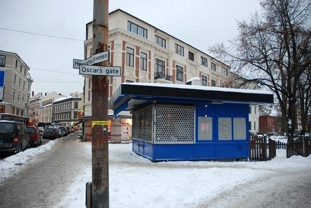 Den gamle kiosken i Hegdehaugsveien 32 blir ny. FOTO: ANNE MARIE HUCK QUAYE