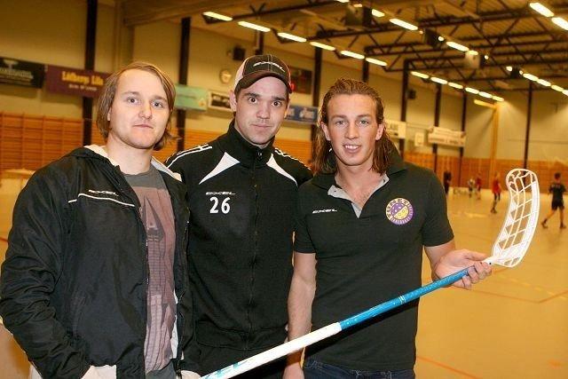Optimister: Thomas Rognlien (venstre), Jørgen Haaland og Ole Mossin Olesen tror på seier mot Sarpsborg.