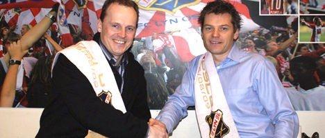 Rolf Magne Walstad og Jan Tore Kristiansen er meget godt fornøyde med at samarbeidet fortsetter