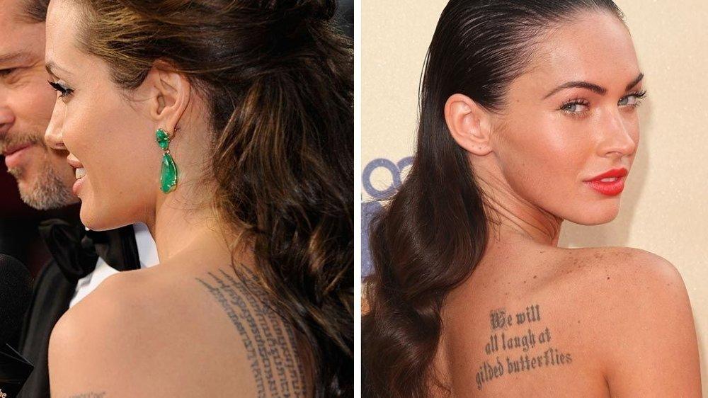 TATOVERTE DAMER: Angelina Jolie og Megan Fox.