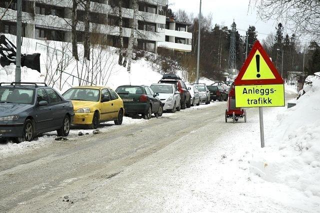 Dette skal være anleggsvei for utgravningene i Vettakollen høydebasseng. Foto: Karl Andreas Kjelstrup