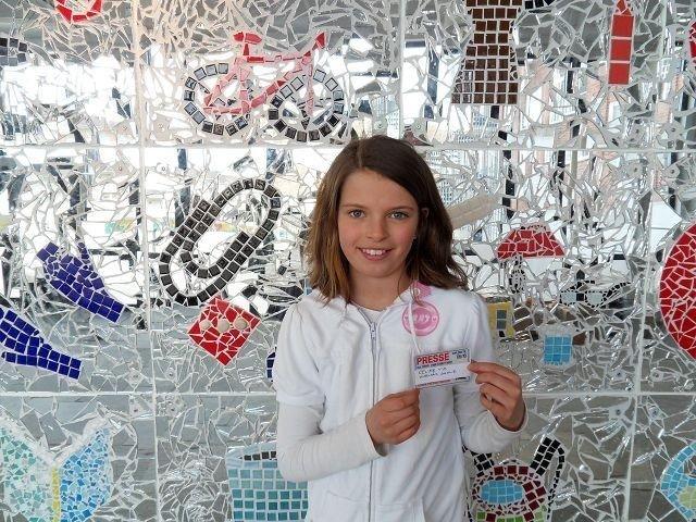 Celine Vik fra Kjelsås skole skal være miljøreportere og skrive om miljøsaker som opptar henne frem mot Hafslunds miljøfestival for barn i Frognerparken 5. juni.