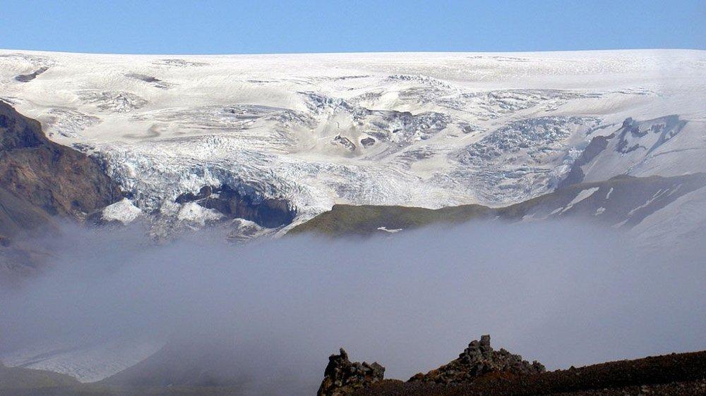 MONSTERVULKANEN: Katla er dekket av isbreen Myrdalsjökull.