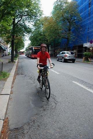 Helle Strindberg vil ha sykkelfelt i Bygdøy allé. Foto: Anne Marie Huck Quaye