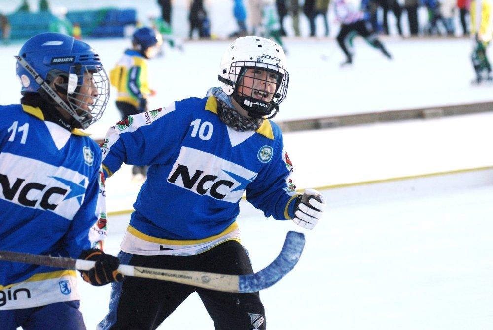 Johan Hoffgård Moe (t.v) og Jesper Sagen scoret målene mot Haslum.