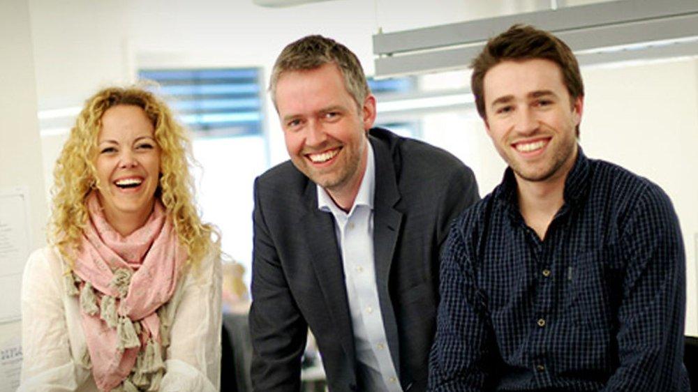 Linda Kling, Ruben Søgaard og Tord Sollie i MediaCom AS