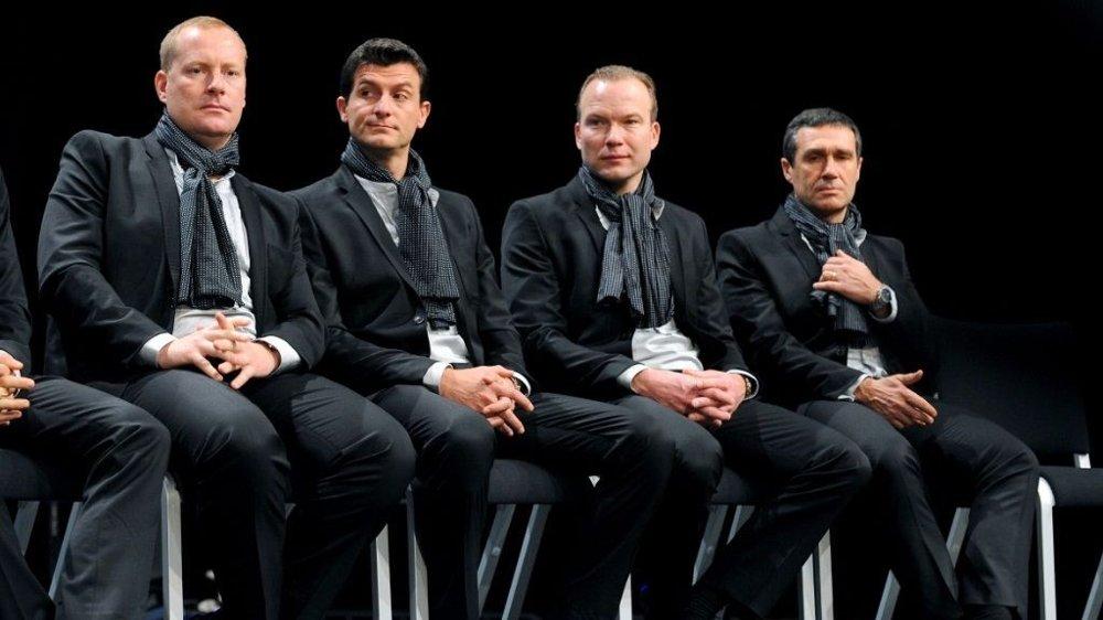 Thorsten Schmidt, Luca Guercilena, Lars Michaelsen og Andrano Baffi.