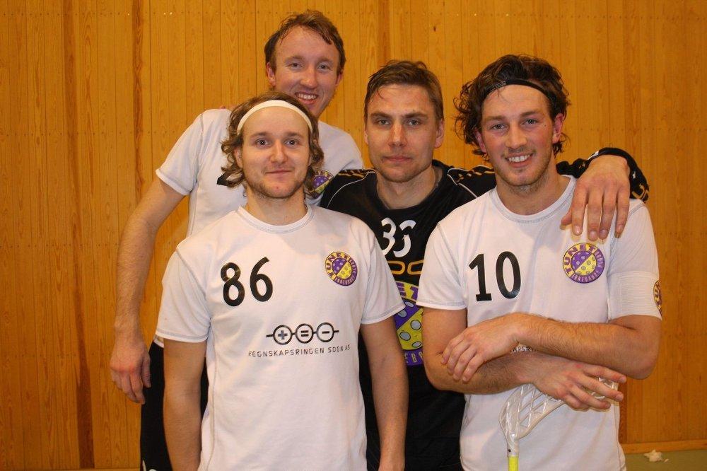 ALT FOR NORGE: Thomas Rognlien, (f.v), Fredrik Hoff Eriksen, Christer Rönnmark og Ole Mossin Olesen drar denne uken til Tyskland for å kvalifisere Norge til VM i Sveits i desember.