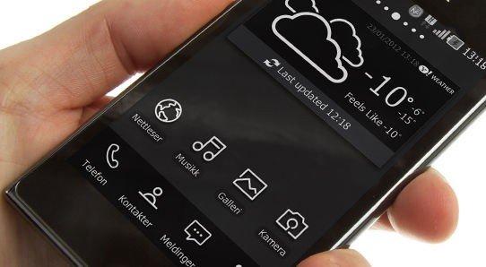 Prada by LG 3.0 har 4,3-tommers skjerm med svært høy lysstyrke.