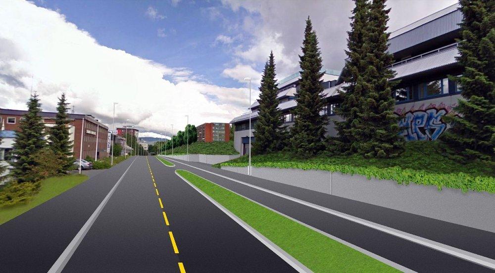 JA ELLER NEI: BU skal se på planene for egne sykkelfelt i Enebakkveien fra Ryenkrysset mot Ryenhjemmet.