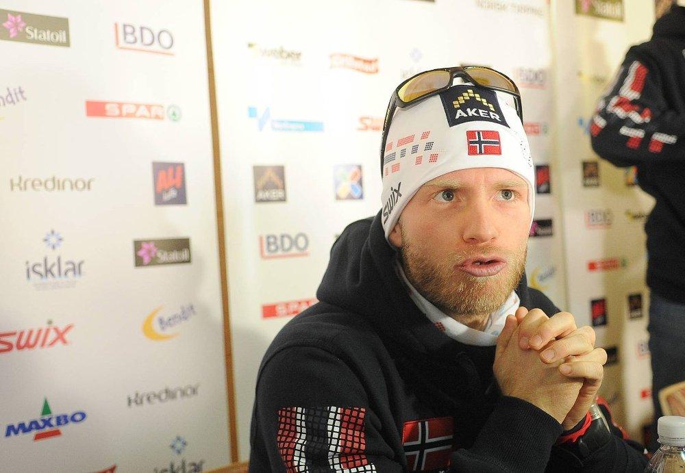 SNAKKET MED MEDIA: Martin Johnsrud Sundby i Val di Fiemme.