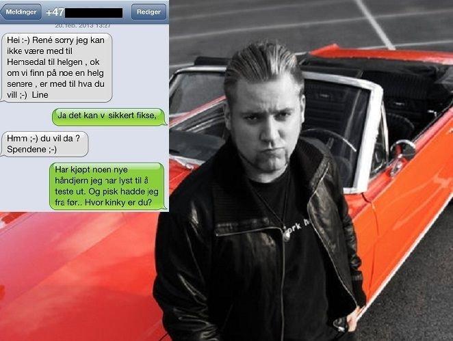 Christopher Remme Sletten (bildet) bestemte seg for å spøke med jenta som sendte melding og trodde han var René (Foto: Skjermbilde fra Facebook/privat)