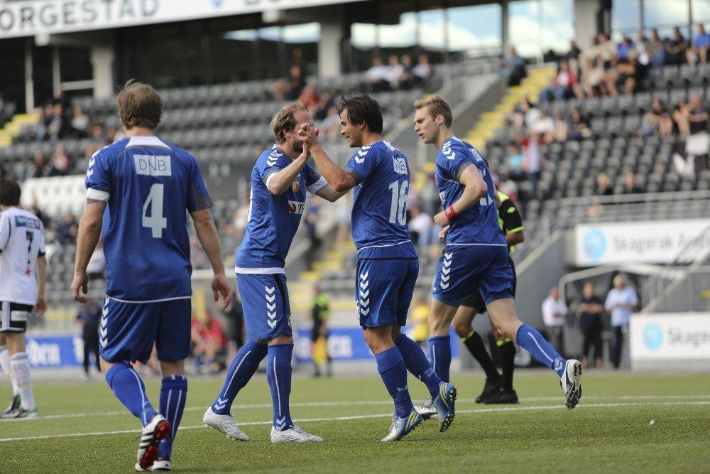 Tresor Egholm scoret det forløsende 0-1 målet etter 12 minutter ved et hodestøt.